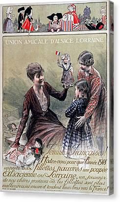 Union Amicale Dalsace Lorraine, 1918 Canvas Print by Henri Royer