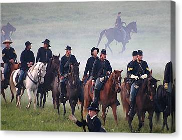 Union Cavalry On The March - Perryville Ky Canvas Print by Thia Stover