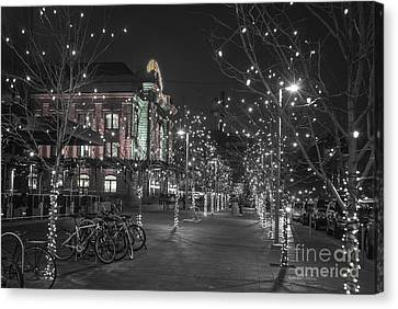 Union Station In The Winter Canvas Print by Juli Scalzi