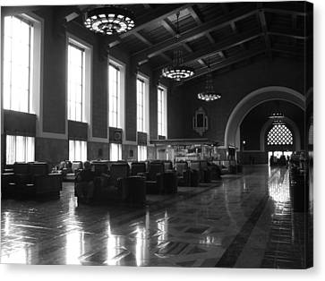 Union Station Los Angeles Canvas Print by Jim McCullaugh