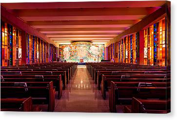 Air Force Canvas Print featuring the photograph United States Air Force Academy Catholic Cadet Chapel by Alexis Birkill