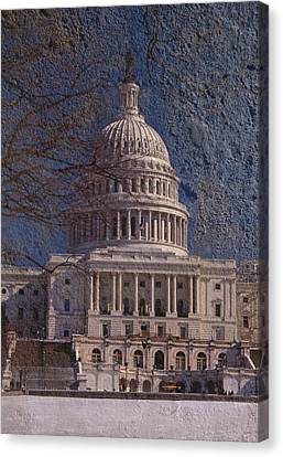 United States Capitol Canvas Print by Skip Willits