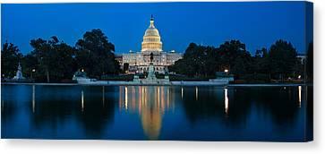 United States Capitol Canvas Print by Steve Gadomski