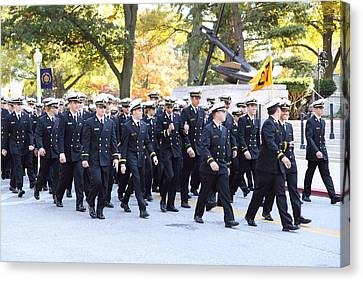 United States Naval Academy In Annapolis Md - 121241 Canvas Print by DC Photographer