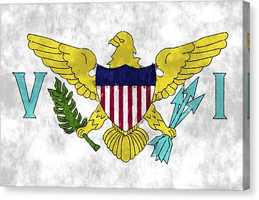 United States Virgin Islands Flag Canvas Print by World Art Prints And Designs