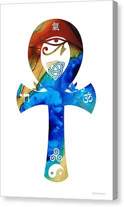 Unity 15 - Spiritual Artwork Canvas Print by Sharon Cummings