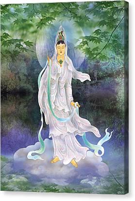Universal Kuan Yin Canvas Print by Lanjee Chee