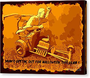 Universal Mosters Mummys Chariot Card Canvas Print by John Malone