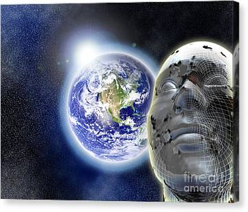 Alone In The Universe Canvas Print by Stefano Senise