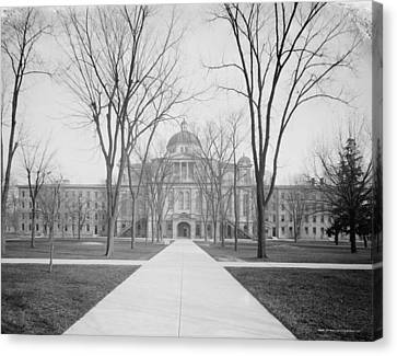 University Hall, University Of Michigan, C.1905 Bw Photo Canvas Print by Detroit Publishing Co.