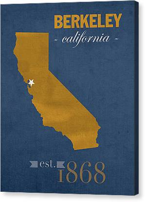 University Of California At Berkeley Golden Bears College Town State Map Poster Series No 024 Canvas Print by Design Turnpike