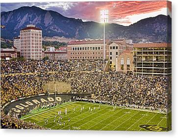 University Of Colorado Boulder Go Buffs Canvas Print by James BO  Insogna