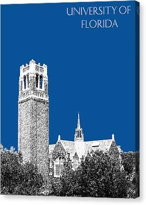 University Of Florida - Royal Blue Canvas Print by DB Artist