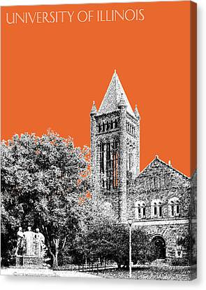 University Of Illinois 2 - Altgeld Hall - Coral Canvas Print by DB Artist