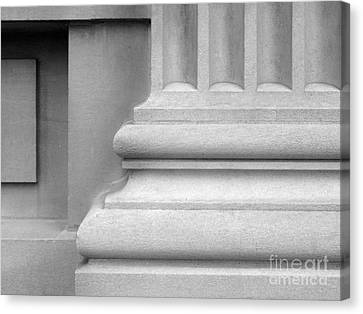 University Of Iowa Column Base Canvas Print by University Icons