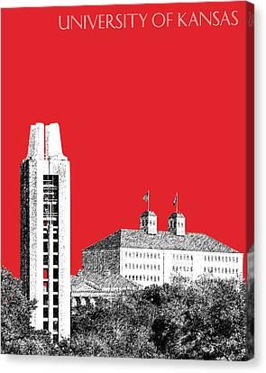 University Of Kansas - Red Canvas Print by DB Artist