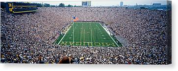 University Of Michigan Football Game Canvas Print by Panoramic Images