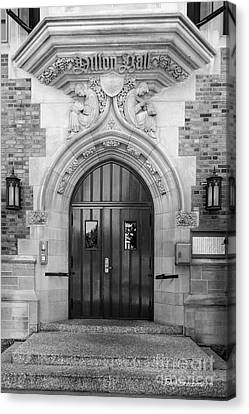 University Of Notre Dame Dillon Hall Canvas Print by University Icons