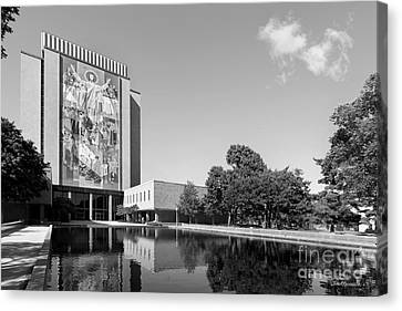 University Of Notre Dame Hesburgh Library Canvas Print by University Icons