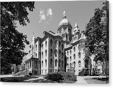 University Of Notre Dame Main Building Canvas Print by University Icons