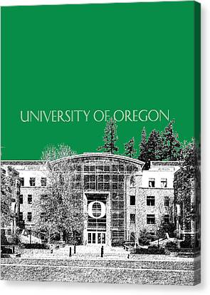 University Of Oregon - Forest Green Canvas Print by DB Artist