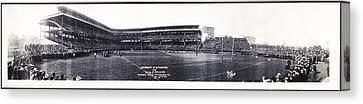 University Of Pittsburgh Vs W And J College Forbes Field Pittsburgh Pa 1915 Canvas Print by Bill Cannon