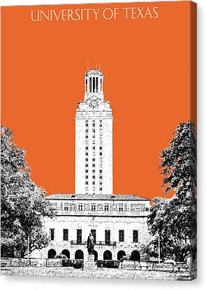 University Of Texas - Coral Canvas Print by DB Artist