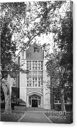 University Of The Pacific - Knoles Hall Canvas Print by University Icons