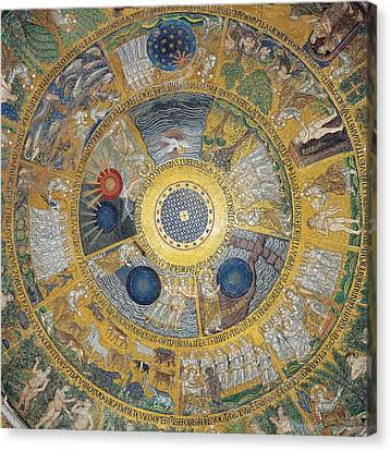 Unknown Artist, Cupola Of The Creation Canvas Print by Everett