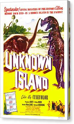 Unknown Island, Us Poster, 1948 Canvas Print by Everett