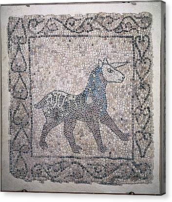 Unknown, Unicorn, 13th Century Canvas Print by Everett