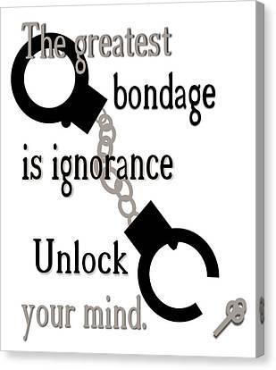 Unlock Your Mind Canvas Print by Pharris Art
