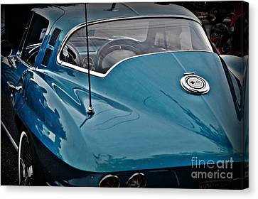 Unmistakeable Tail 65 Corvette Stingray Canvas Print by JW Hanley
