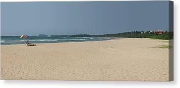 Unspoiled Beach At Bentota Beach Canvas Print by Panoramic Images