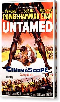 Untamed, Us Poster Art, 1955.  Tm & Canvas Print by Everett