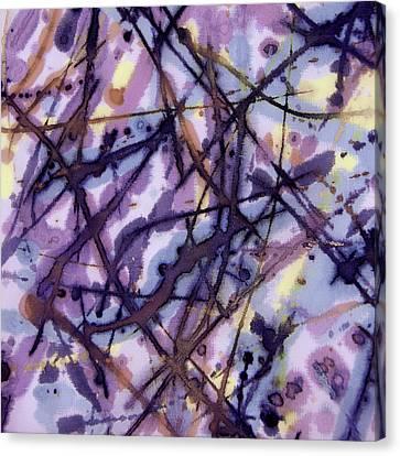 Purple Rain Canvas Print by Odessa Christiana