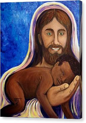 Unto You A Godly Son Is Given Canvas Print by Pamorama Jones