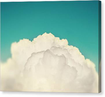 Up Above The Clouds Canvas Print by Amy Tyler