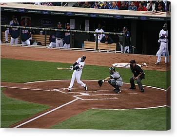 Up At Bat Canvas Print by Jaymes Grossman