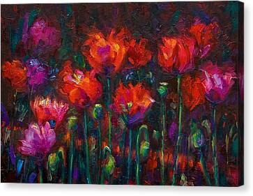 Up From The Ashes Canvas Print by Talya Johnson
