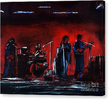 Up On The Stage Canvas Print by Alys Caviness-Gober