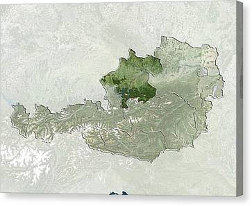 Upper Austria, Austria, Satellite Image Canvas Print by Science Photo Library