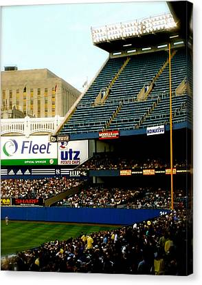 Upper Deck  The Yankee Stadium Canvas Print by Iconic Images Art Gallery David Pucciarelli