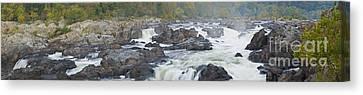 Upper Great Falls Panorama Canvas Print by Benjamin Reed