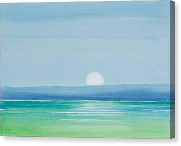 Upper Matecumbe Moonrise Canvas Print by Michelle Wiarda
