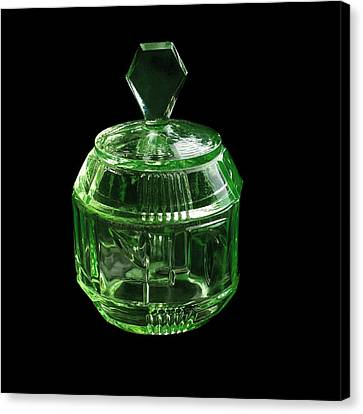 Uranium Glass Canvas Print by Science Photo Library