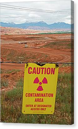 Uranium Mill Clean Up Project Canvas Print by Jim West