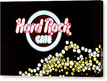 Urban Abstract Hard Rock Cafe Canvas Print by Dan Sproul
