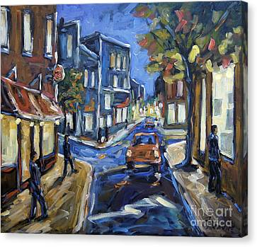 Urban Avenue By Prankearts Canvas Print by Richard T Pranke