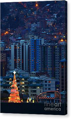 Urban Christmas Tree Canvas Print by James Brunker